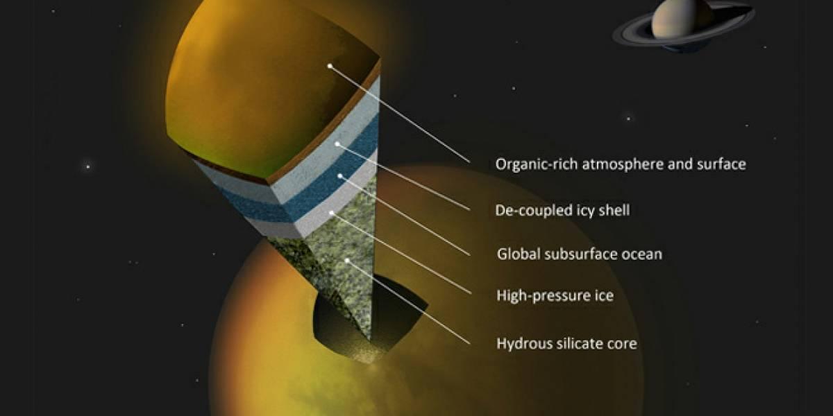 NASA sospecha que hay un océano debajo de la superficie de una de las lunas de Saturno