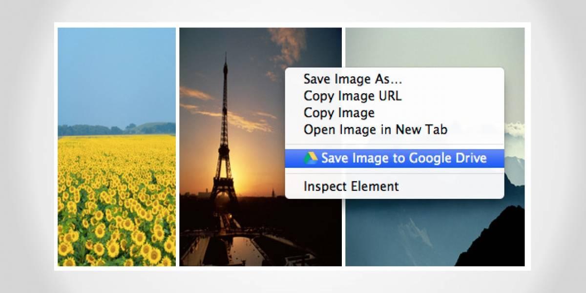 Extensión de Chrome permite guardar directamente en Google Drive