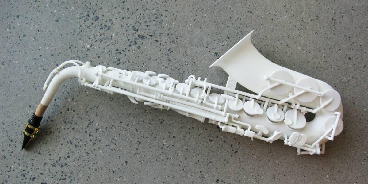 Conoce cómo suena un saxofón impreso en 3D