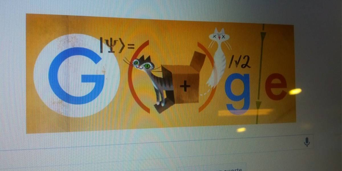 Doodle homenajea a la física del gato de Schrödinger