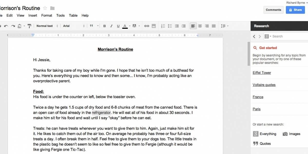 Google Docs integra nueva herramienta para buscar citas, referencias, imágenes y otros