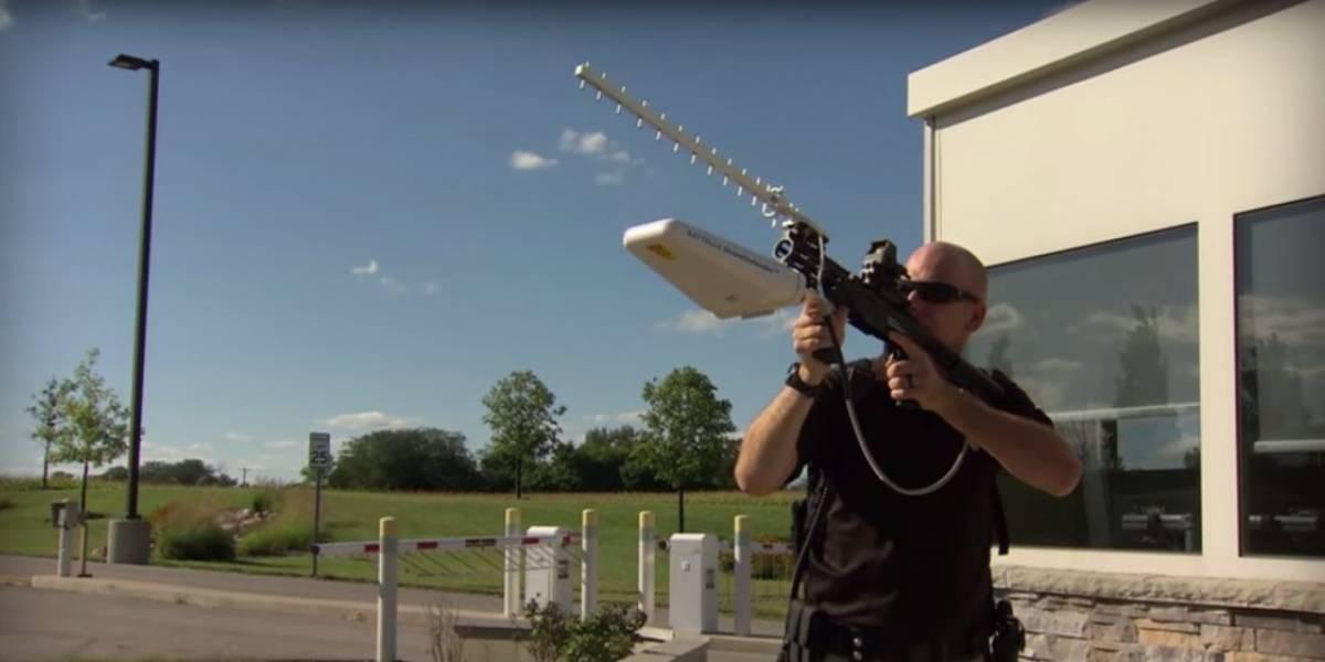 Conoce el nuevo rifle anti-drones desarrollado para proteger zonas estratégicas