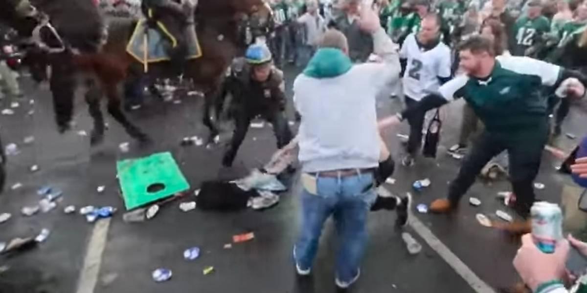 VIDEO: Pase de Filadelfia al Super Bowl desata ola de violencia
