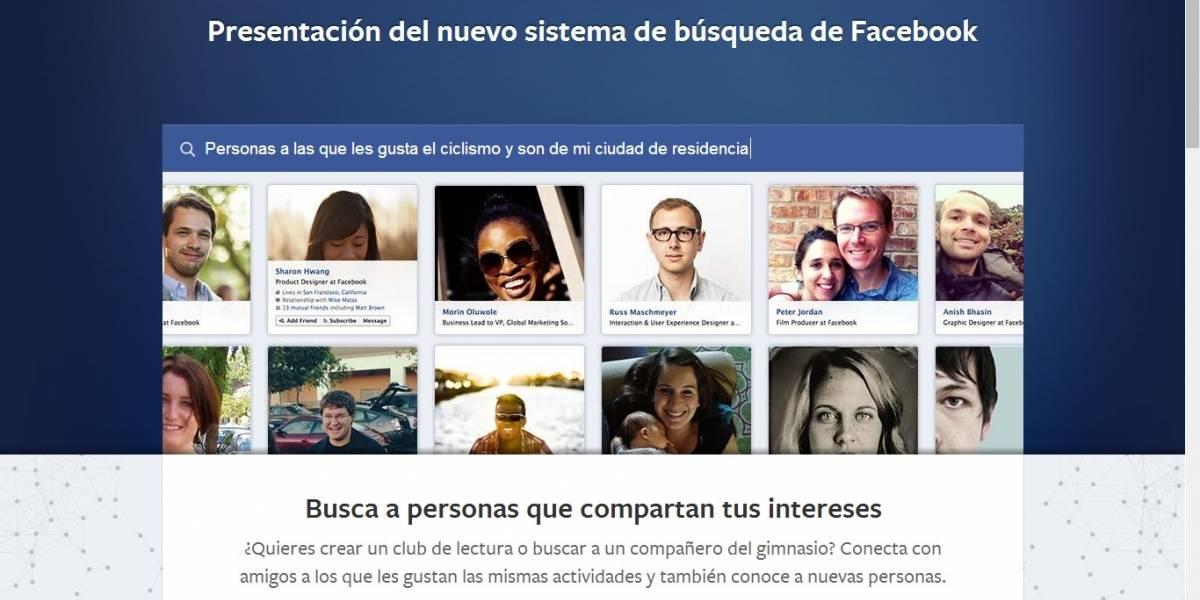 Facebook anuncia una nueva forma de buscar información en la red social