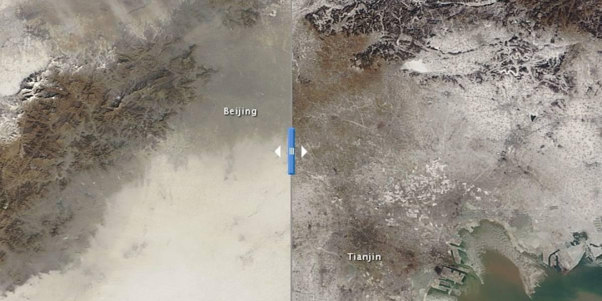 ¿Cómo se ve la contaminación en Beijing desde el espacio?