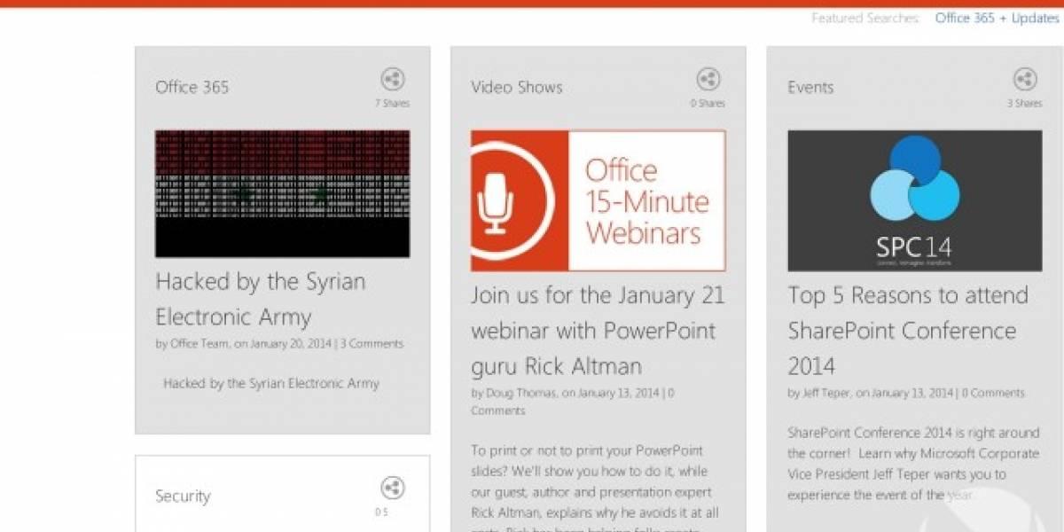 Ejército Electrónico Sirio ahora ataca los sitios web de Microsoft