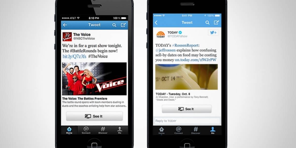 Twitter agregará un botón para ver series de TV via streaming