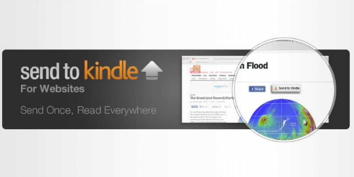 Amazon implementa botón para enviar un artículo al Kindle