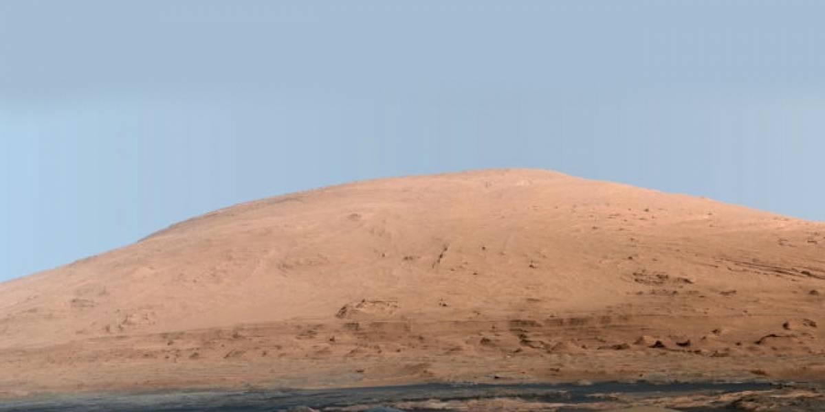 Extraña montaña marciana habría sido creada por viento, no por agua