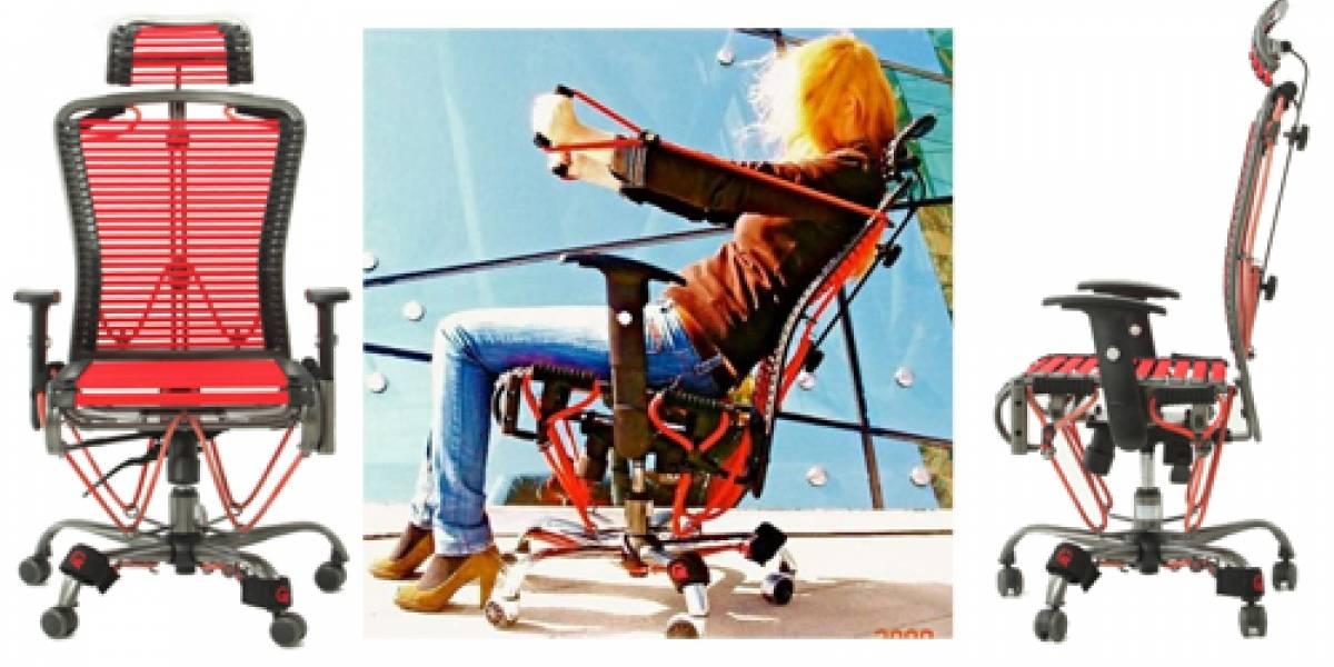 """Gymygym: La """"silla elástica"""" que te permite ejercitarte sin salir de la oficina"""