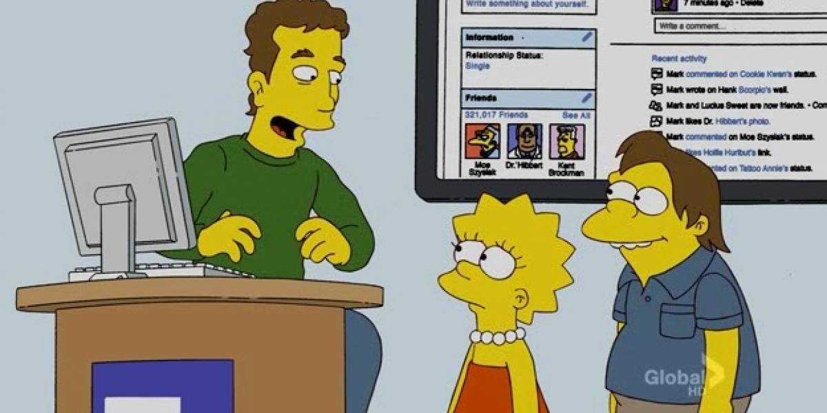Mark Zuckerberg en Los Simpson