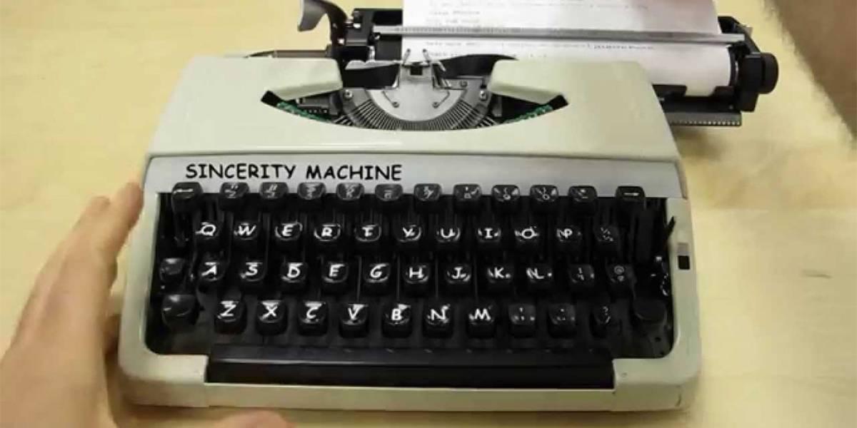 Sincerity Machine, la máquina que escribe en Comic Sans