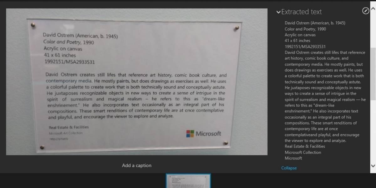 SkyDrive ofrece reconocimiento de texto en fotos