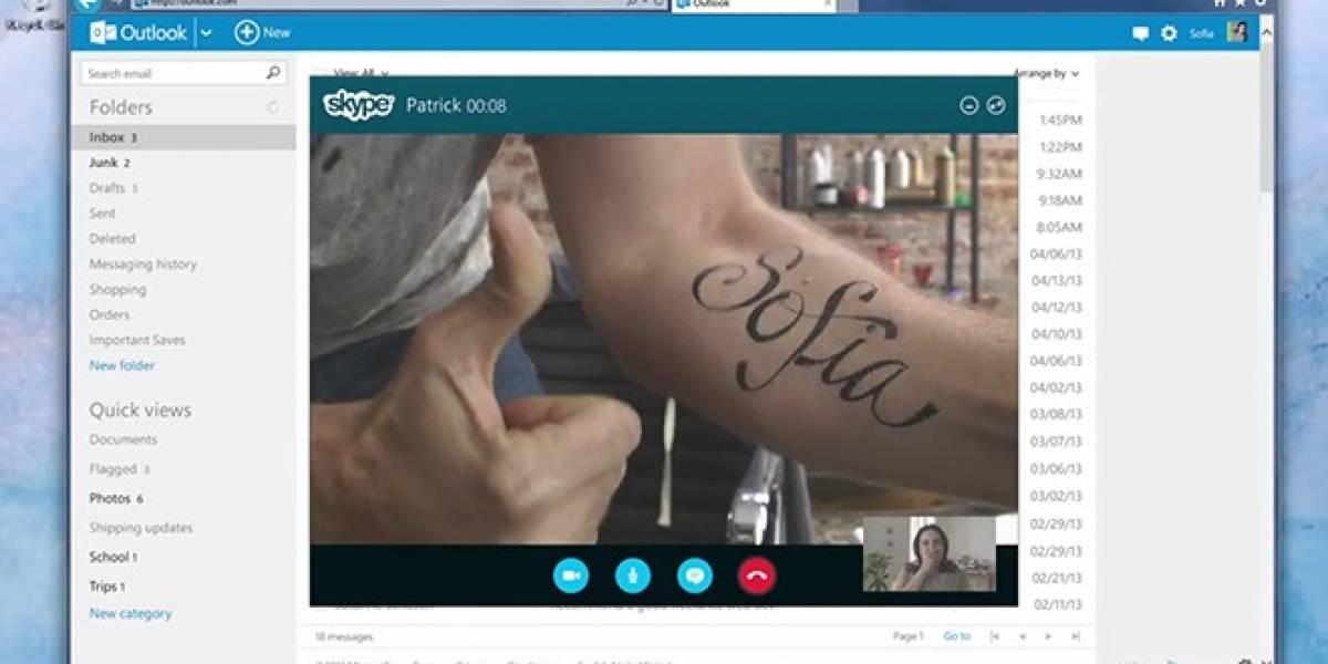 Skype se integra con Outlook para hacer llamadas desde el navegador