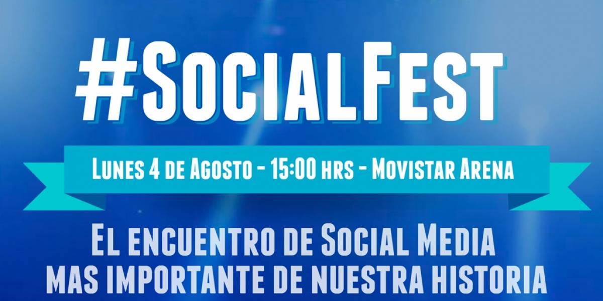 Realizarán conferencia #SocialFest el próximo 4 de agosto en Santiago
