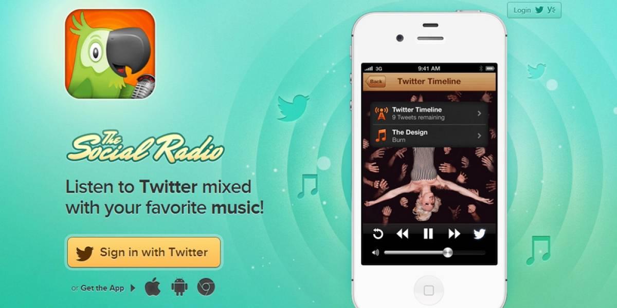 The Social Radio te lee tuits cuando no puedes leerlos tú mismo [FW Startups]