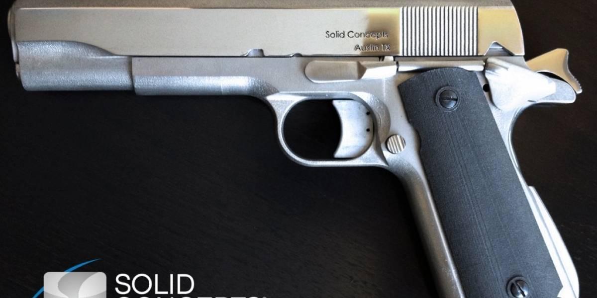 La primera pistola metálica impresa en 3D
