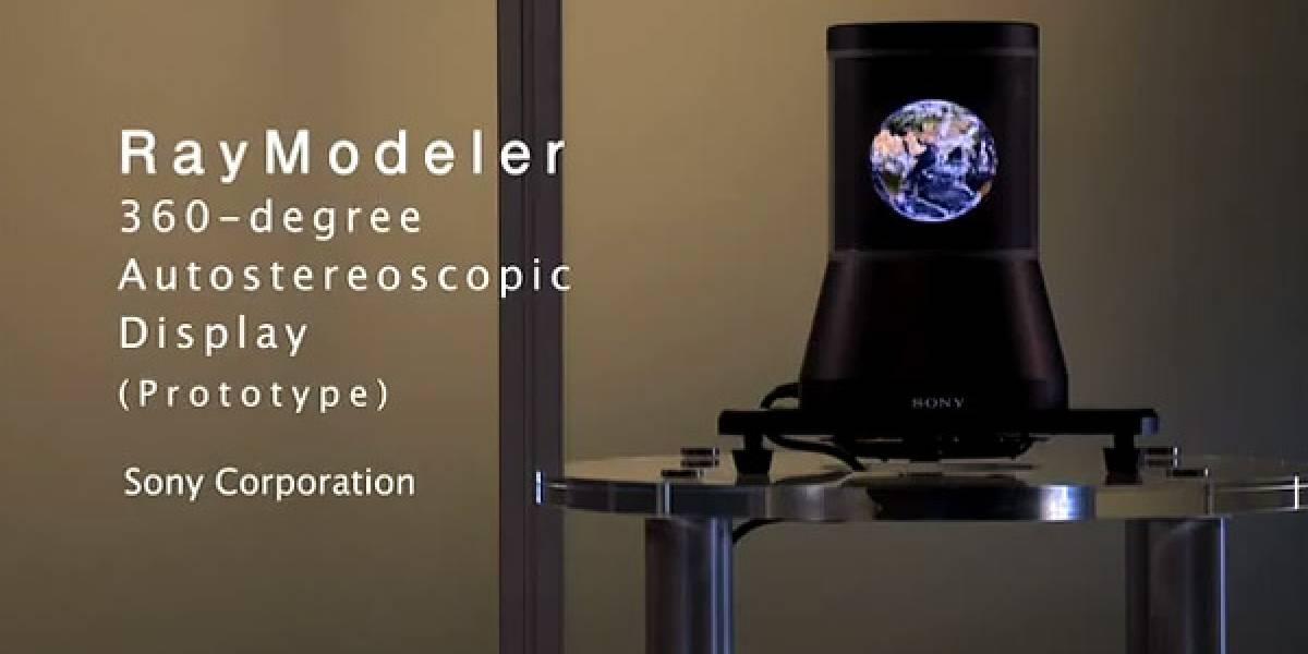 Sony RayModeler: Prototipo de pantalla autoestereoscópica de 360 grados (Video)