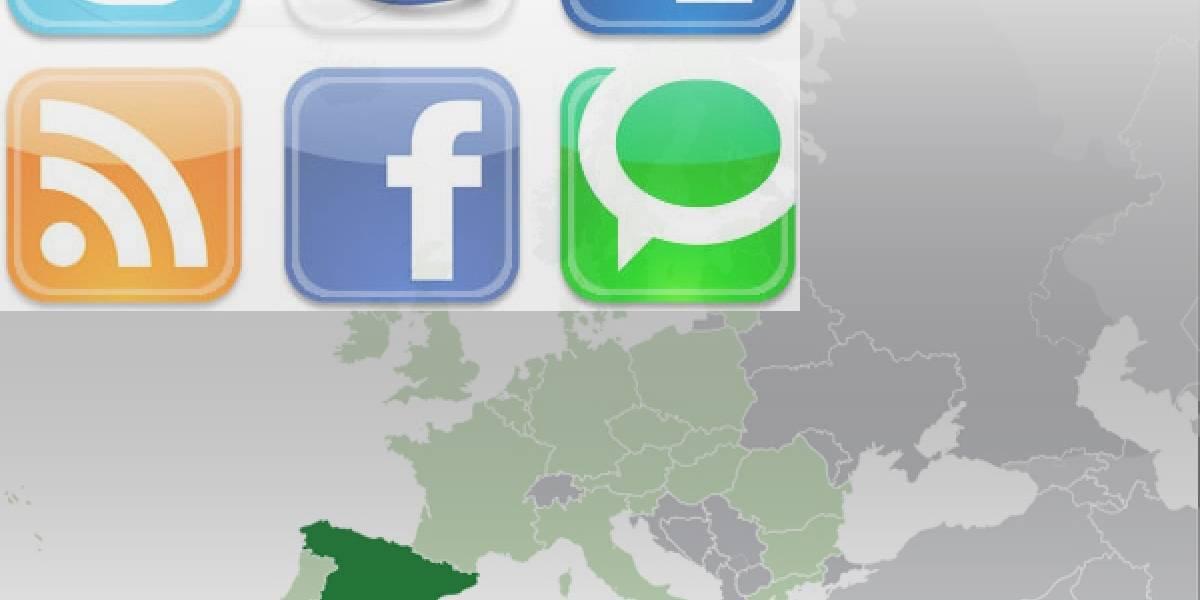 Sólo el 28% de los españoles usa redes sociales