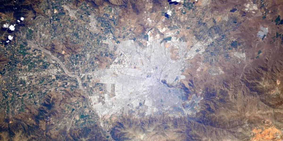 Imperdible: astronauta italiana comparte foto de Santiago de Chile desde el espacio
