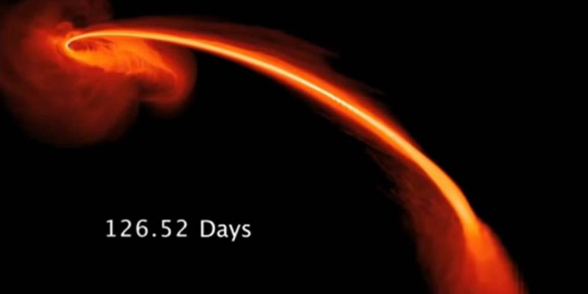 """Astrónomos captan el momento exacto en que un agujero negro se """"comió"""" a una estrella"""
