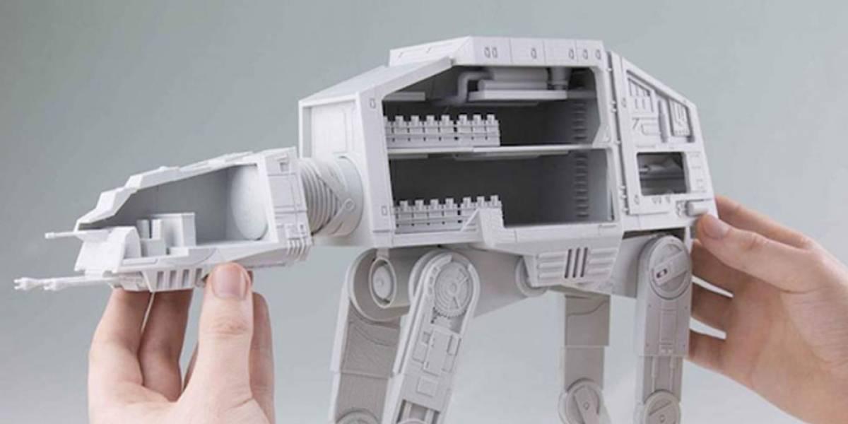 Descarga los archivos para crear un AT-AT de Star Wars impreso en 3D