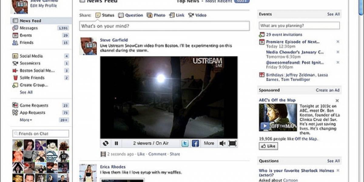Facebook es ya el tercer sitio favorito para ver en vídeos en Estados Unidos