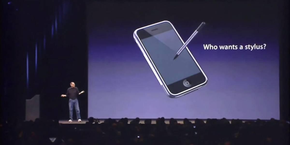 Recordemos cuando Steve Jobs se burló de los stylus