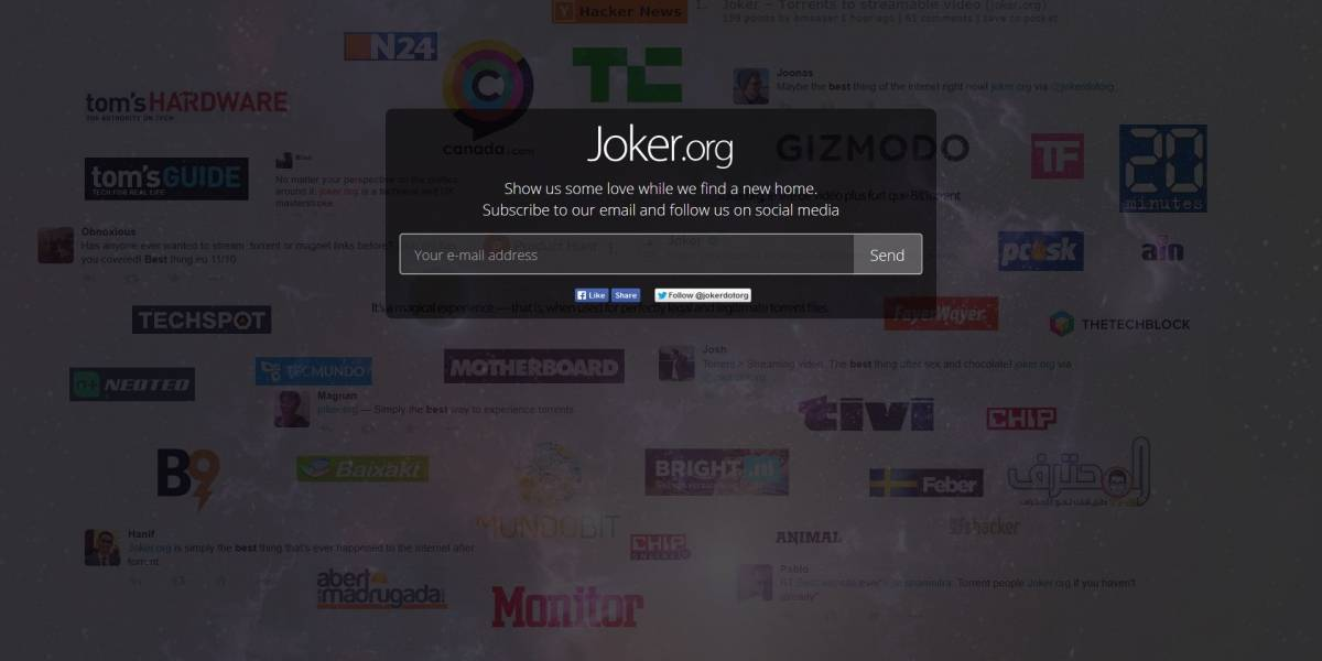 Joker deja de funcionar por violar derechos de autor