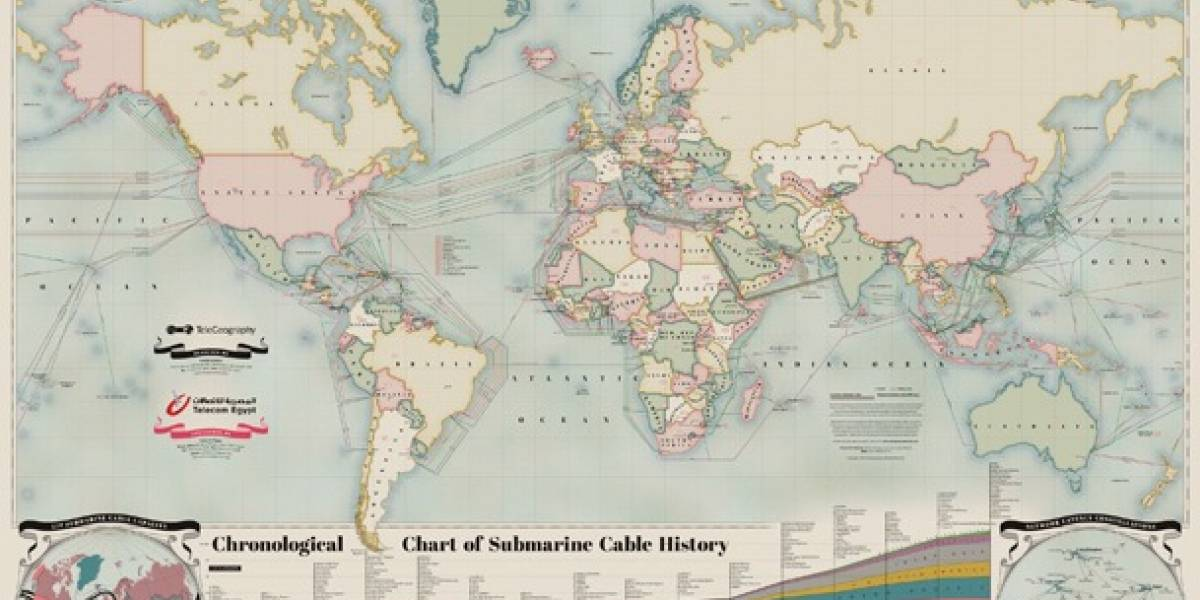 Mapa interactivo muestra todos los cables submarinos del mundo