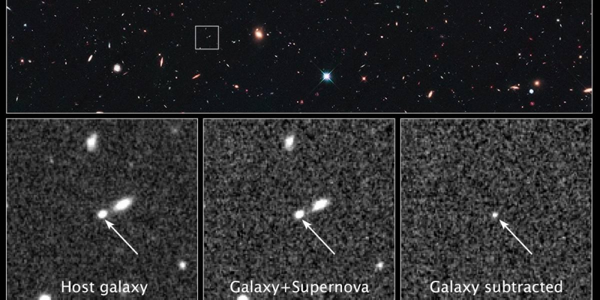 Hubble encuentra la supernova más lejana hasta la fecha: 10 mil millones de años luz
