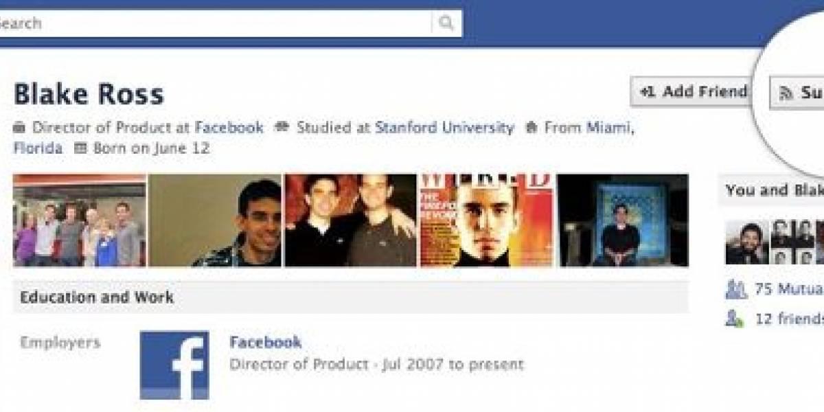 """Facebook lanza opción para """"suscribirse"""""""