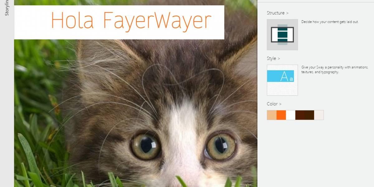 Microsoft abre la beta de Sway a todo el mundo