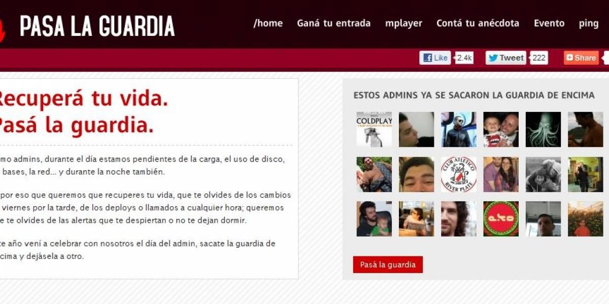 Argentina: Este año, el día del SysAdmin se festeja sacándote la guardia de encima