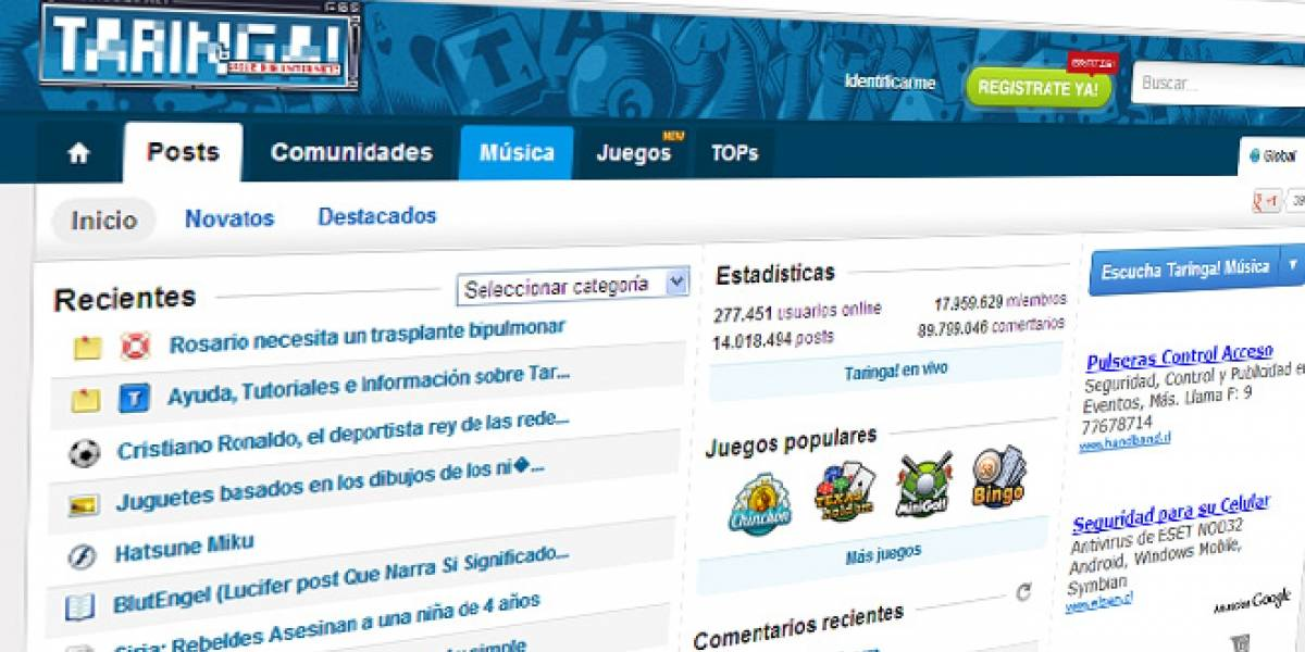 """Argentina: Anonymous inicia la """"Operación Taringa"""" y derriba la web de la Corte Suprema"""