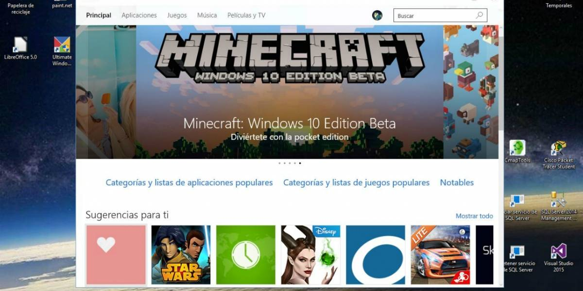 Tienda de Windows 10 ahora te dice si una aplicación es universal