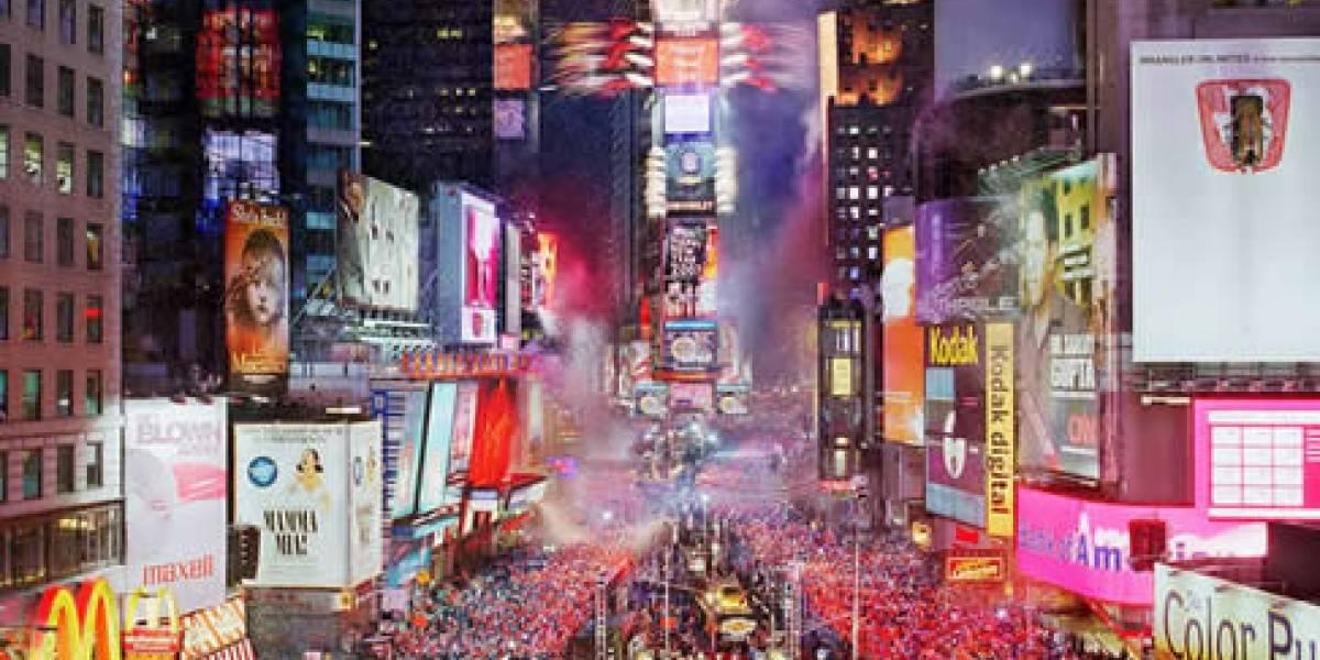 Transmisión en 3D de la celebración de año nuevo desde el Times Square de Nueva York