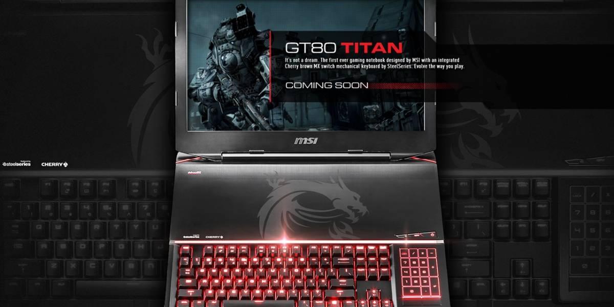 MSI GT80 Titan, la primera laptop con teclado mecánico para gamers