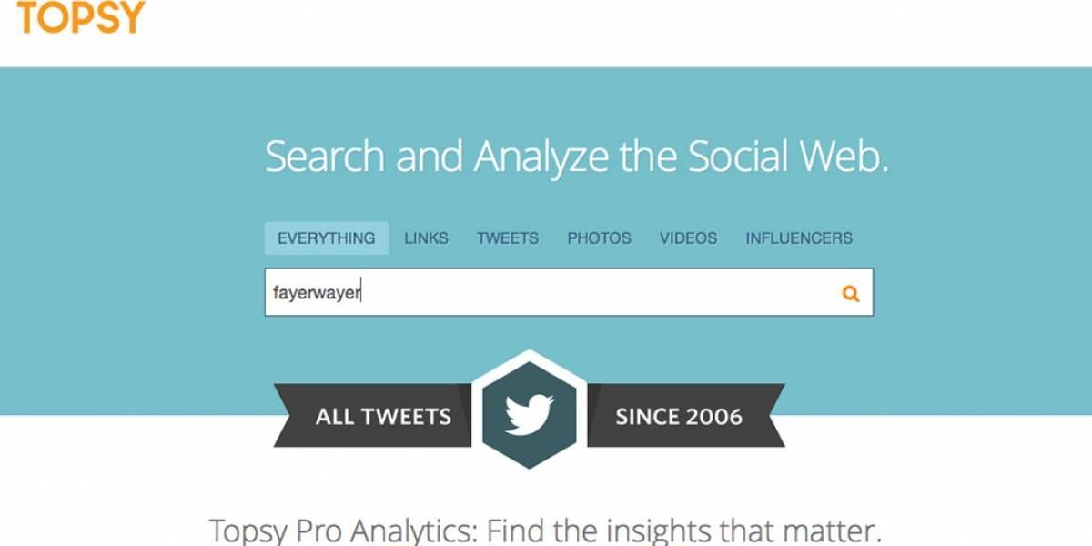Topsy lanza un nuevo buscador gratuito para Twitter