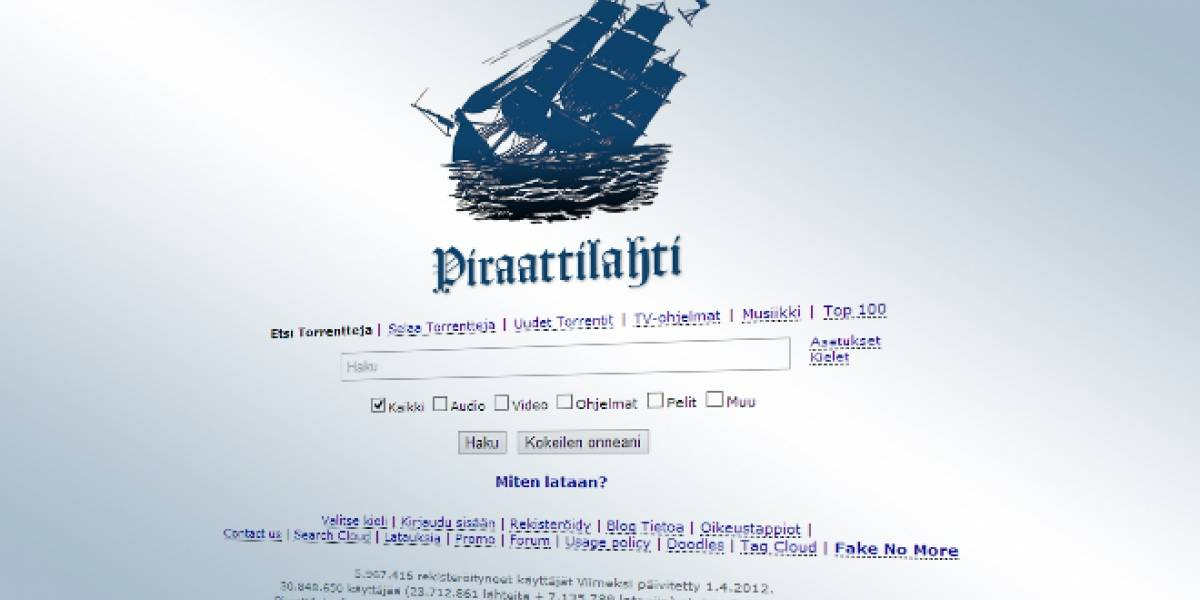 Grupo anti-piratería lanza sitio web que copia el diseño de The Pirate Bay