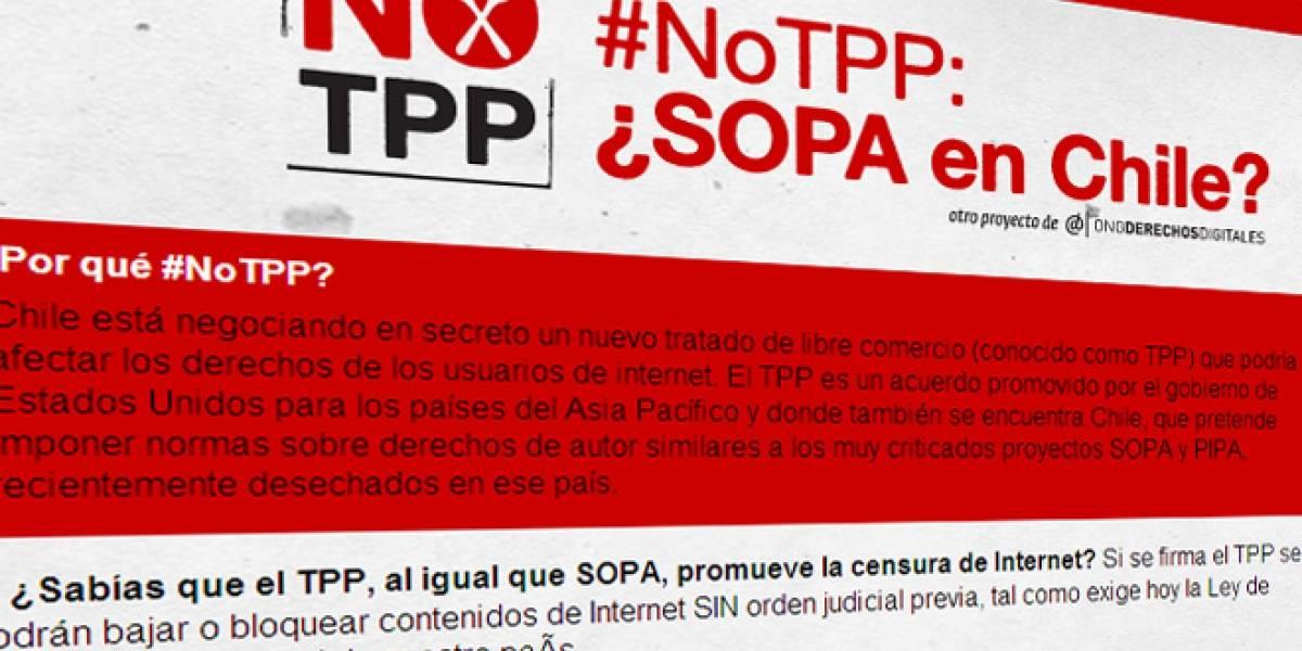 Chile: Esta semana vuelve a discutirse a puerta cerrada el TPP, que sancionaría a usuarios de internet