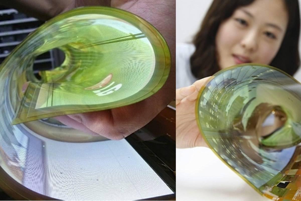 LG muestra un prototipo de pantalla flexible de 18 pulgadas