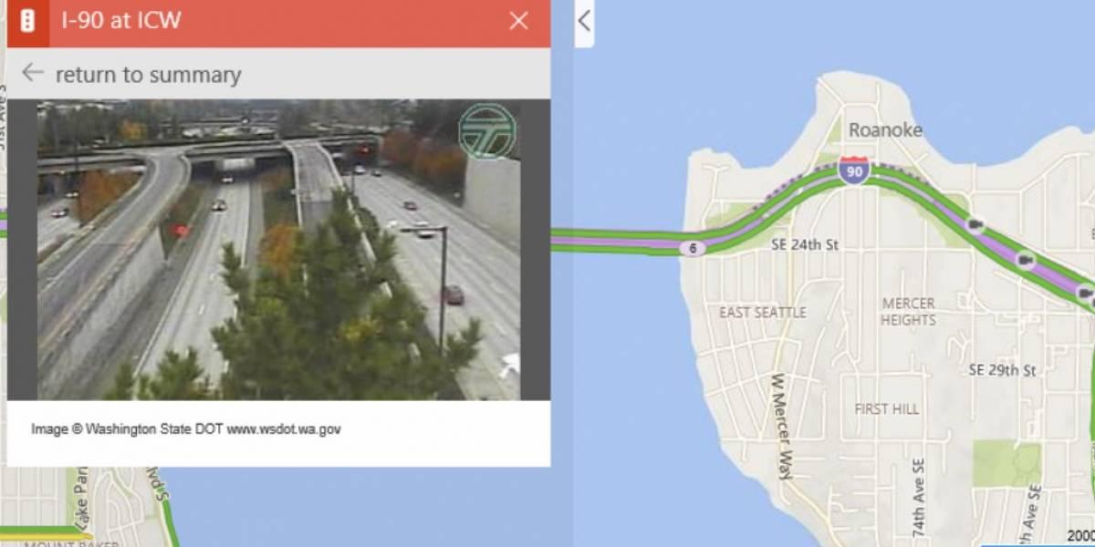 Los mapas de Bing ahora incluyen cámaras de tráfico en directo de 11 países