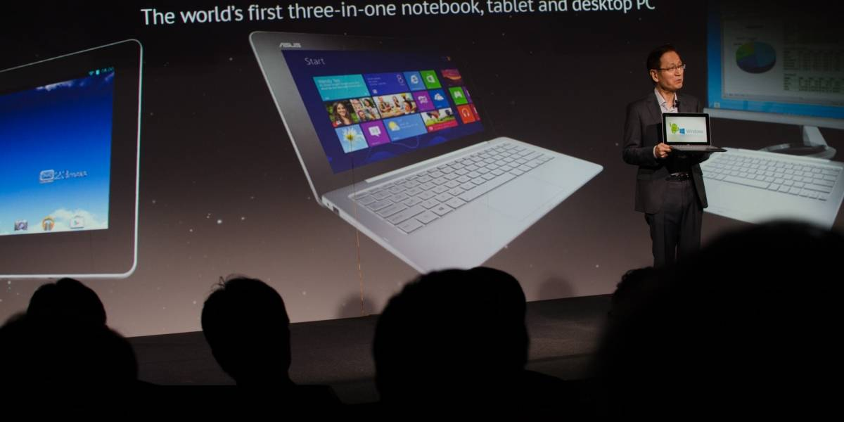 Asus lanza el Transformer Book Trio, que pasa de tablet a laptop y escritorio
