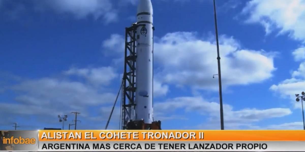 Argentina probará un cohete para lanzar satélites al espacio