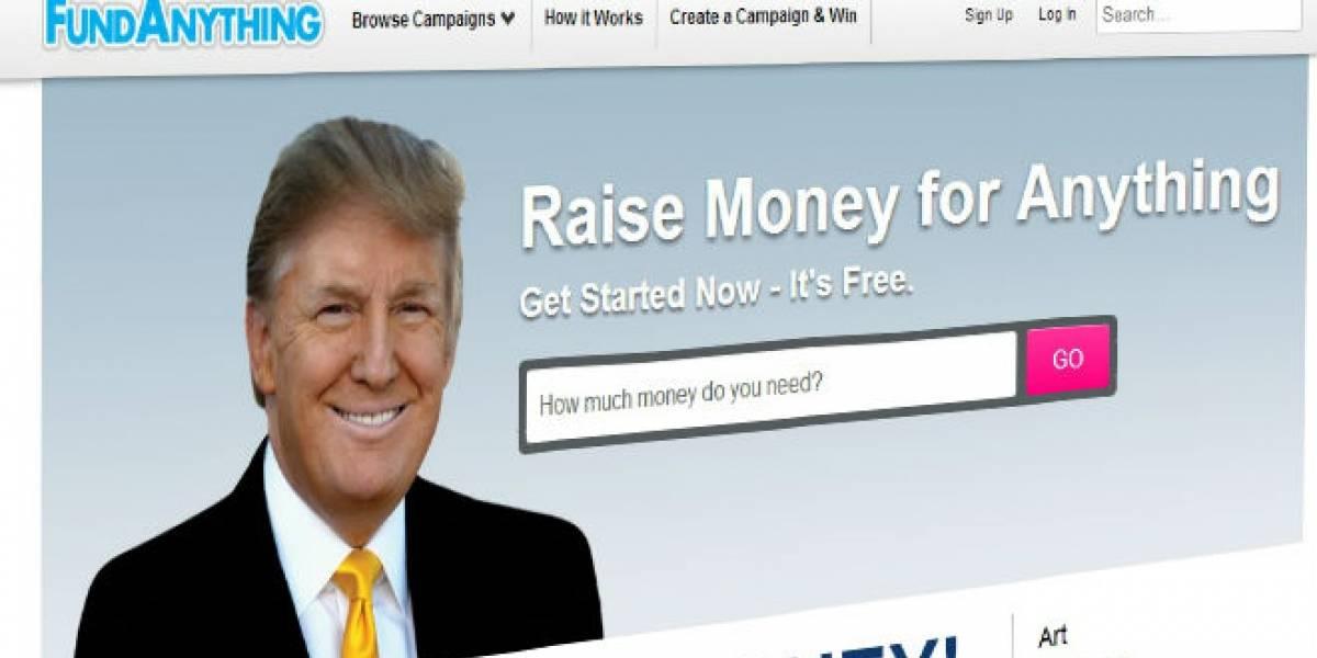 Donald Trump lanza una copia de Kickstarter llamada FundAnything