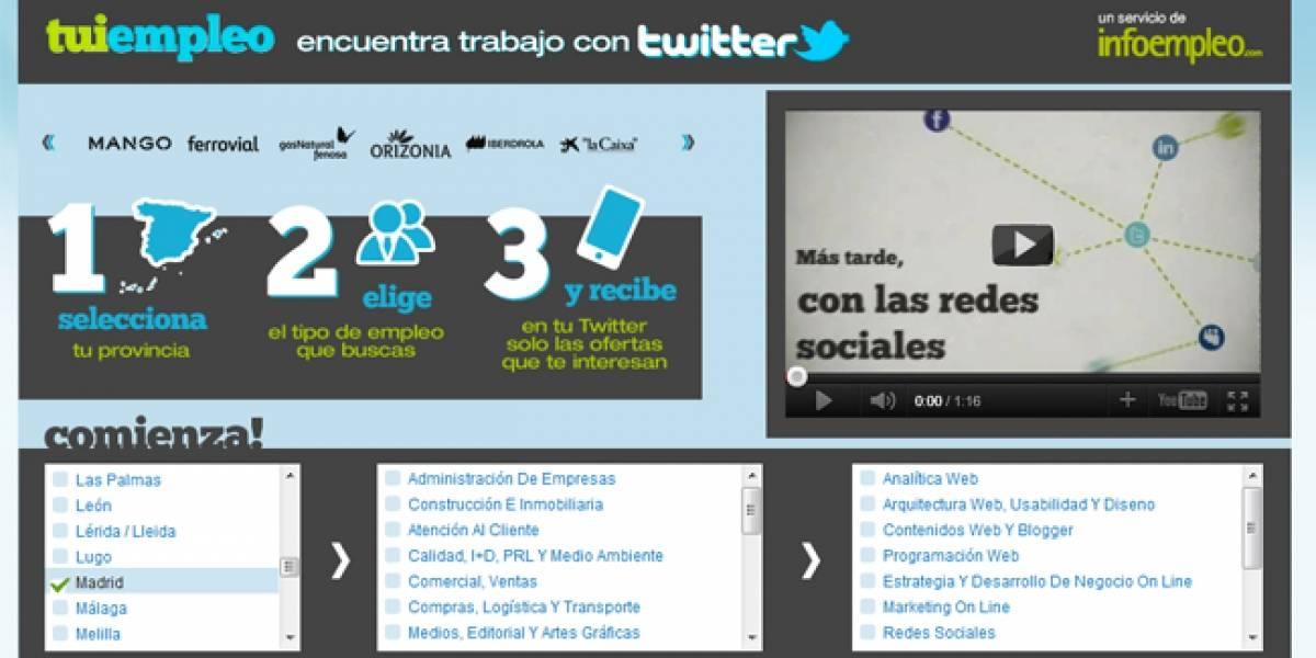España: Tuiempleo te ayuda a encontrar trabajo a través de Twitter