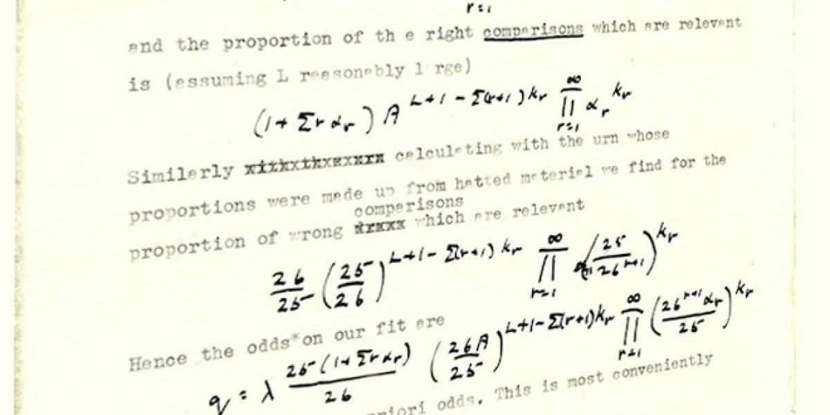 Publican dos estudios de Alan Turing que ayudaron a descifrar el código Nazi Enigma