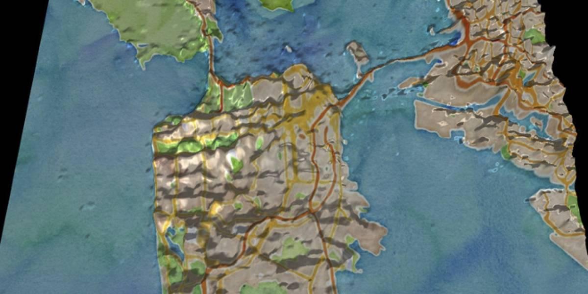 Mapa interactivo muestra zonas donde más se usa la geolocalización en Twitter