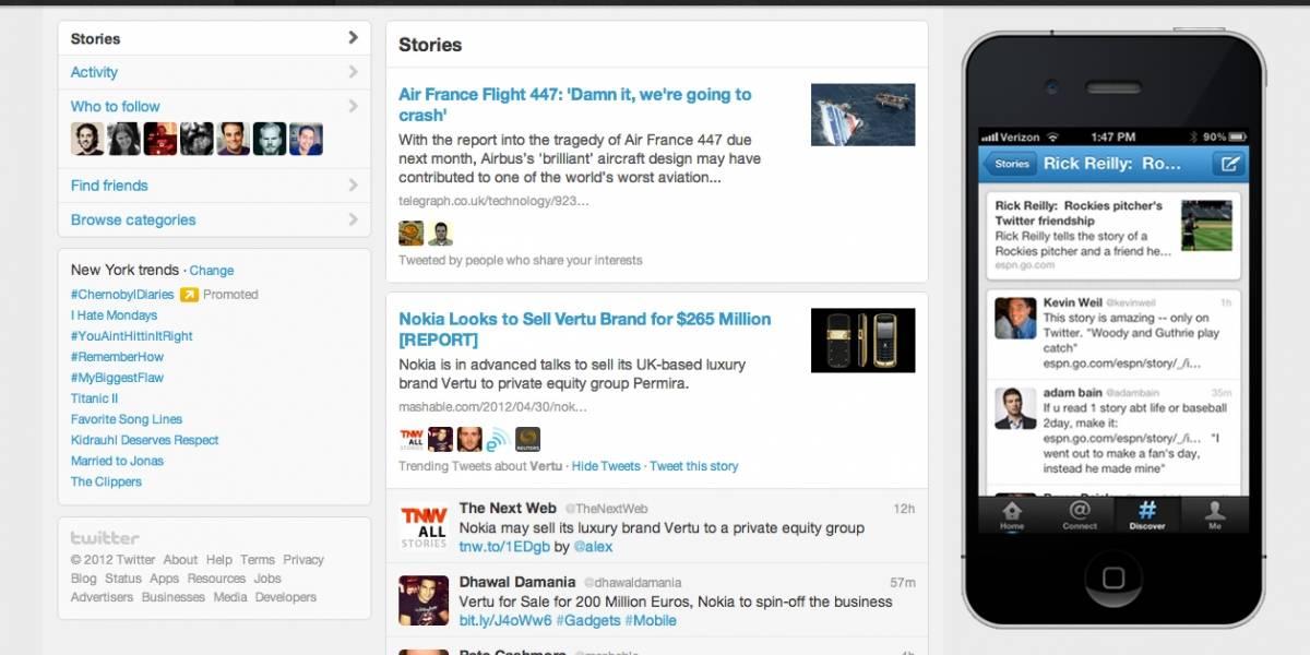 """Twitter añade nuevas funciones para su pestaña """"Descubre"""""""